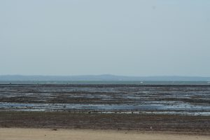 Grandcamp Maisy - la plage à marée basse